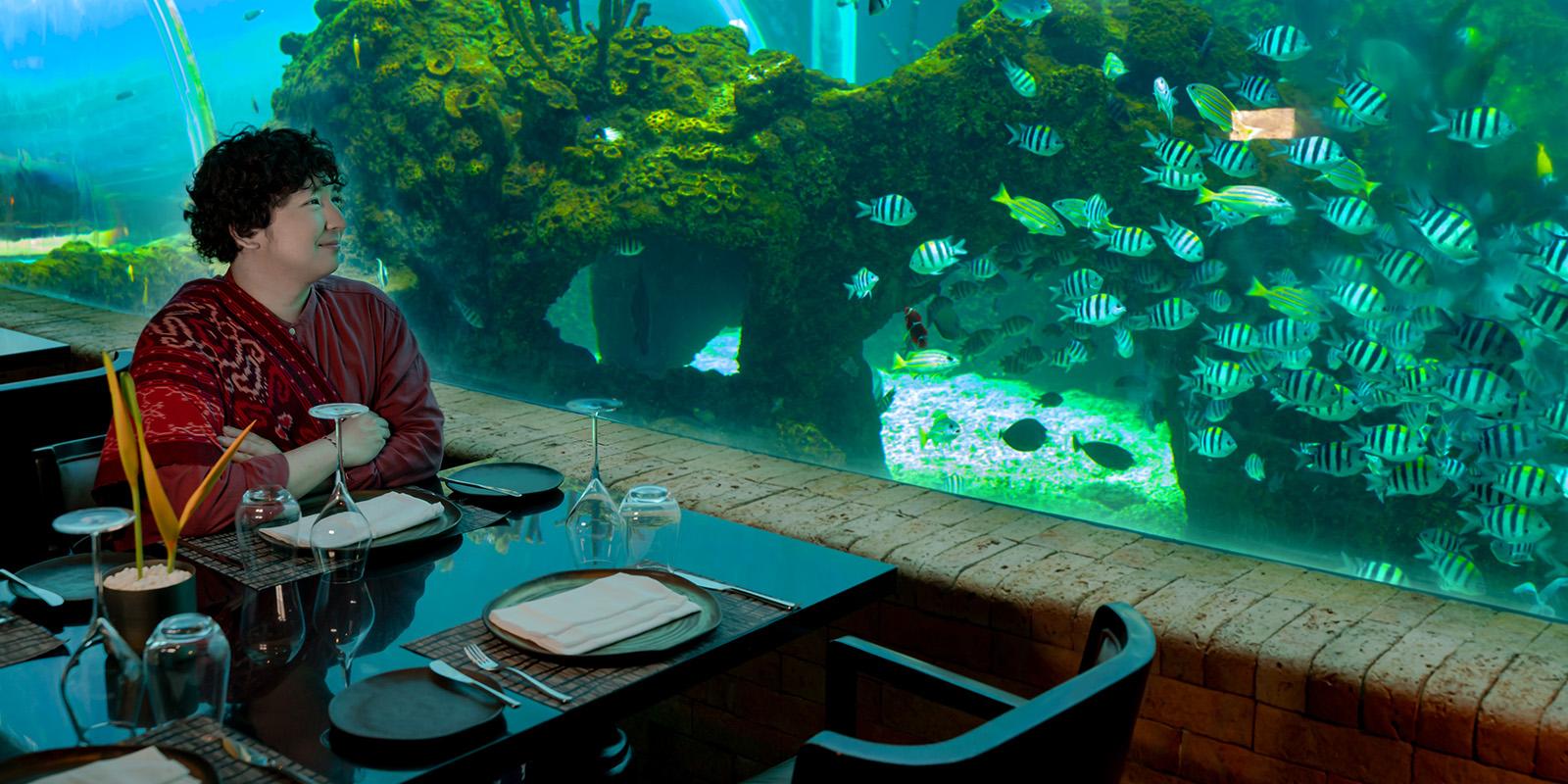 Bali's First Aquarium Dining Experience
